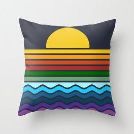 Geometric Rainbow Nature Throw Pillow