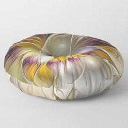 Abstract Fantasy Flower Fractal Art Floor Pillow