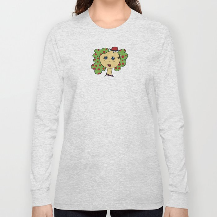 Spotted portrait Long Sleeve T-shirt
