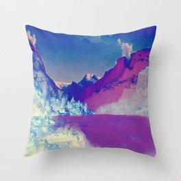 Hardangerfjord Night Throw Pillow