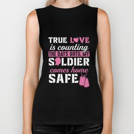 Army Wife and Girlfriend Tshirt - Until My Solider is Safe Biker Tank