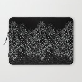 B&W Lace Laptop Sleeve