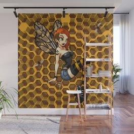 Pinup Honey Bee Wall Mural