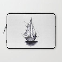 Sailboat Handmade Drawing, Art Sketch, Barca a Vela, Illustration Laptop Sleeve