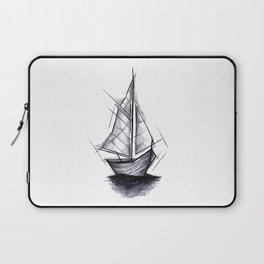 Sailboat Handmade Drawing, Art Sketch, Barca a Vela, Illustration Laptop Sleeve