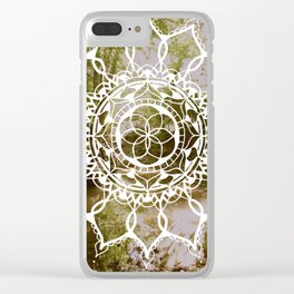 Lazy Hazy Summer Daze Clear iPhone Case
