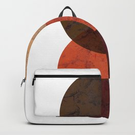 Terracotta Mid Century Abstract Circle Backpack