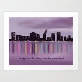 Motivational City Skyline Art Print
