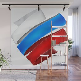 The striped heart Wall Mural