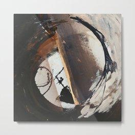 Midnight Falling: a bold, abstract, mixed media piece by Alyssa Hamilton Art Metal Print