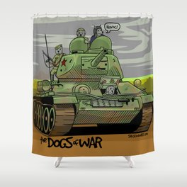 The Dogs of War: T34 Shower Curtain