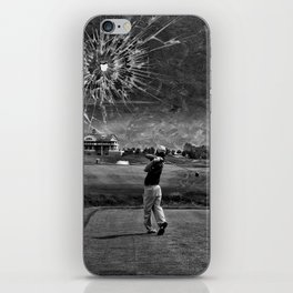 Broken Glass Sky - Black and White Version iPhone Skin