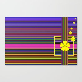 GRAPHIC POP of FLOWERS Canvas Print