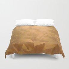 Brushed Copper Metallic Duvet Cover