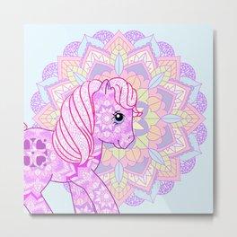 g1 my little pony mandala Sundance Metal Print