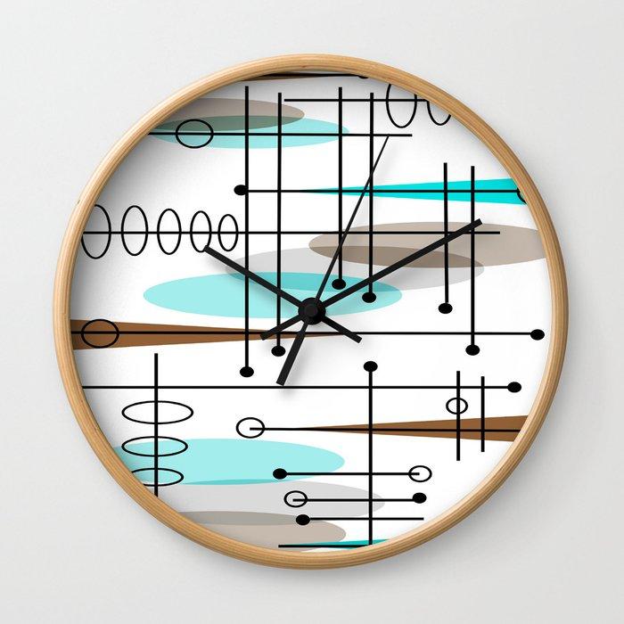 Mid-Century Modern Atomic Inspired Wall Clock