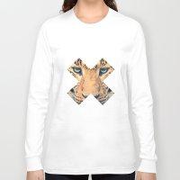 leopard Long Sleeve T-shirts featuring Leopard by Zavu