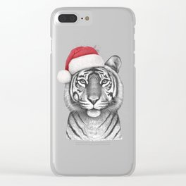 Christmas Tigress Clear iPhone Case