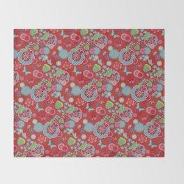 Sakura Red Throw Blanket