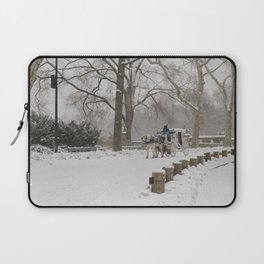 Snow Day Carriage Ride Through Central Park Laptop Sleeve