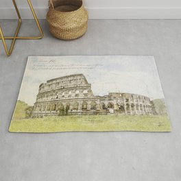 Colosseum, Rome Italy Rug