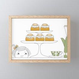 Fika with Semlor Framed Mini Art Print