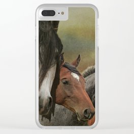 Wild & Free Back In the Day Clear iPhone Case