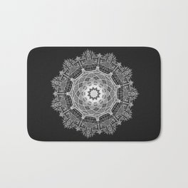 White Mandala Bath Mat