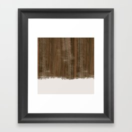 Dipped Wood - Australian Walnut Framed Art Print