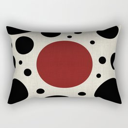 """Abstract Japanese Cow"" Rectangular Pillow"