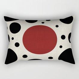 """Abstract Japanese Cow"" Rectangular Pillow"