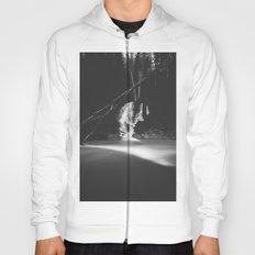 Minimalistic black and white waterfall Hoody