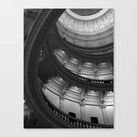 house of cards Canvas Prints featuring House of Cards by T & K Arts