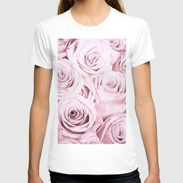 Pink Roses Flowers - Rose and flower pattern T-shirt