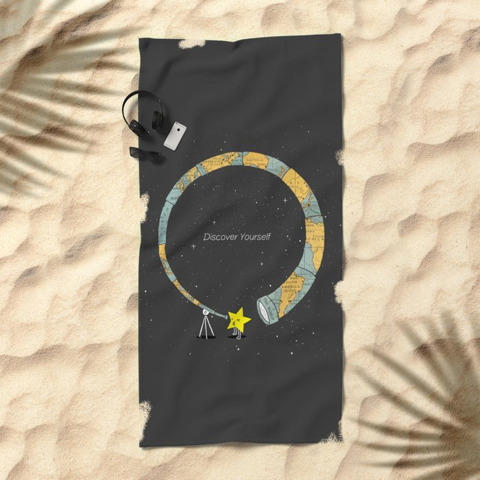 Discover yourself Beach Towel