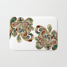 Liquid Bling Paisley Tattoo Bath Mat