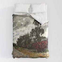 Old Railroad Bed, Brea Comforters