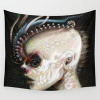 nightmare Wall Tapestries featuring NIGHTMARE by ASHES