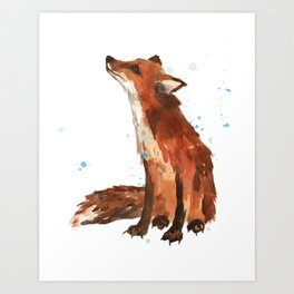 Mindful Fox Art Print