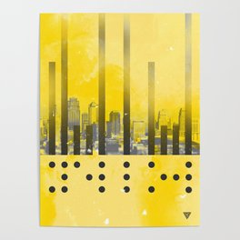 Yellow Abstract Passion Poster