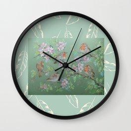 Singing birds & Blossom Wall Clock
