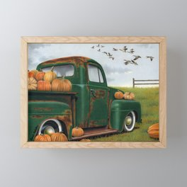 The Pumpkin Truck  Framed Mini Art Print