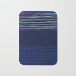 Abstract dark blue background Bath Mat