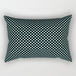 Black and Limpet Shell Polka Dots Rectangular Pillow