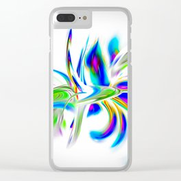 Abstract perfection - Flower Magical Clear iPhone Case