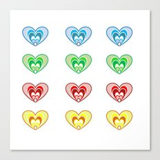 Heart To Heart Canvas Print