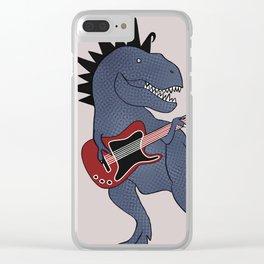 He-Rex Electric Guitar Clear iPhone Case
