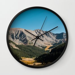 Rocky Mountain Glory Wall Clock