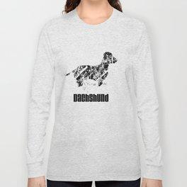 Dachshund in the snow Long Sleeve T-shirt