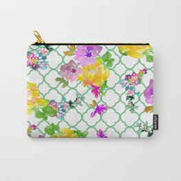 Spring Garden with Greenery Carry-All Pouch